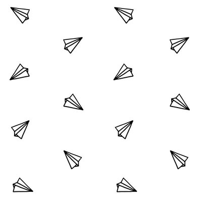 Behang Vliegtuigjes