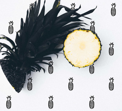 Behang Ananas - Studio Iris van Tricht