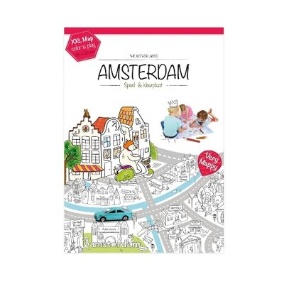 Kleurplaat Amsterdam XL