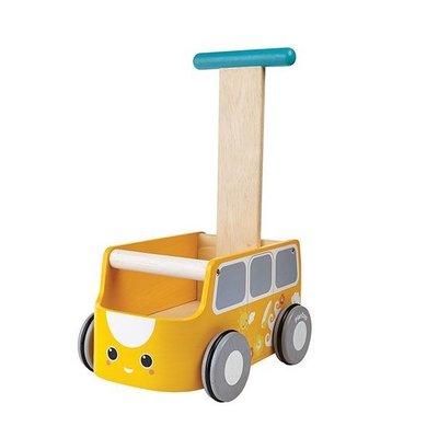 Plan Toys houten loopwagen - geel