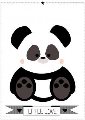 Designed 4 Kids - Panda poster (A3)