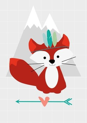 Designed 4 Kids - Poster Indian Fox (A3)