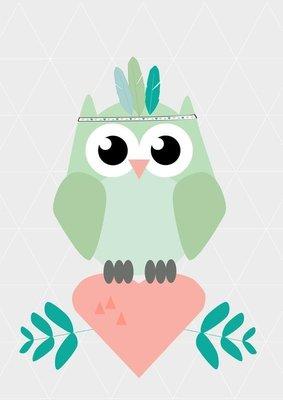 Designed 4 Kids - Poster Indian Owl (A3)