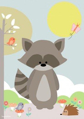 Designed 4 Kids - Poster Wasbeer (A3)