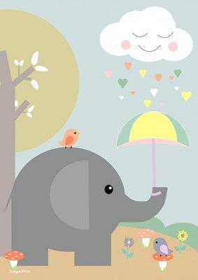 Designed 4 Kids - Poster Olifant (A3)