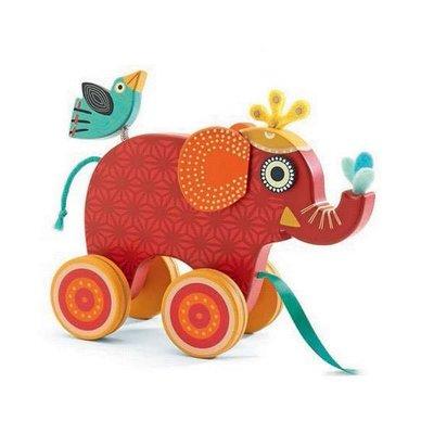 Djeco trekfiguur olifantje Indy