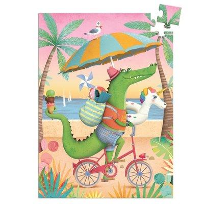 Djeco minipuzzel Croco Beach - 60 stkjs