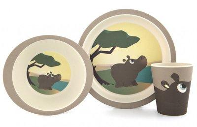 Yuunaa bamboe servies Nijlpaard