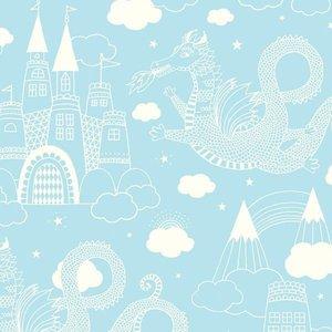 Kinderkamer-behang-Majvillan-Dragon-Light-Blue
