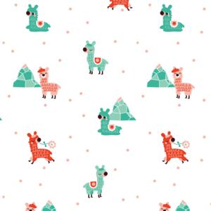 Kinderkamer-behang-alpacas-Bora-Illustraties
