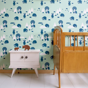 Kinderkamer-behang-beren-Bora-Illustraties