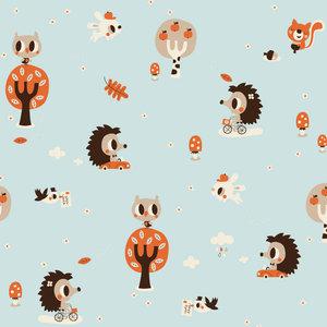Kinderkamer-behang-egel-Bora-Illustraties