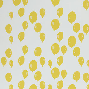 Kinderkamer-behang-Trixie-Balonnen-geel