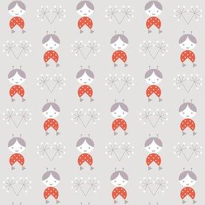 Kinderkamer-behang-Lavmi-grijs-popjes-behang
