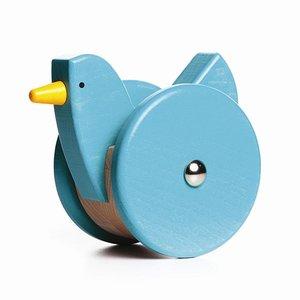 Houten-wiebel-kip-Bajo-blauw