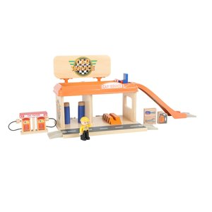 Houten-garage-en-tankstation-Small-Foot
