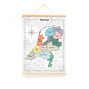 Schoolplaat-kaart-Nederland
