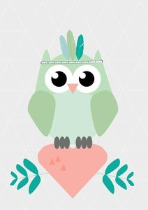 Designed-4-kids-indian-owl-poster