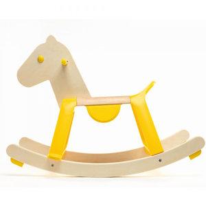 Djeco-houten-hobbelpaard-geel