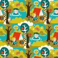 Kinderkamer-behang-Camping-Bora-Illustraties