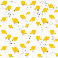 Behang-Lavmi-Kuikentjes-geel