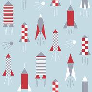 Kinderkamer-behang-Lavmi-raketten-lichtblauw