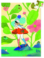 Djeco-Mini-Puzzel-Miss-Chichi-60-stuks