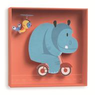 Djeco-3D-wandschilderij-hippo-nijlpaard