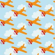 Kinderkamer-behang-Lavmi-Vliegtuigen-lichtblauw